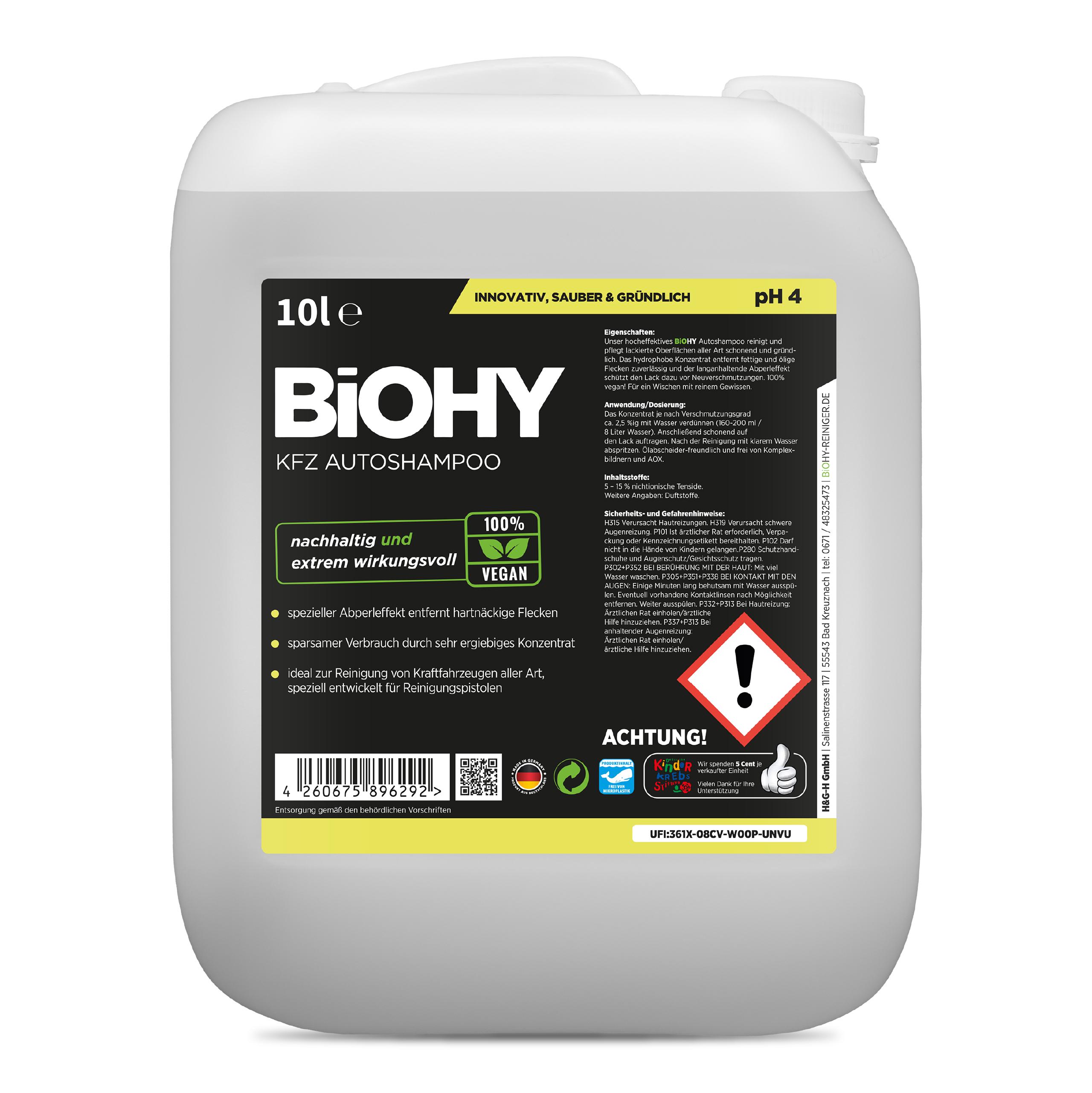 BiOHY KFZ Autoshampoo 10 Liter, Autoshampoo, Autoreiniger